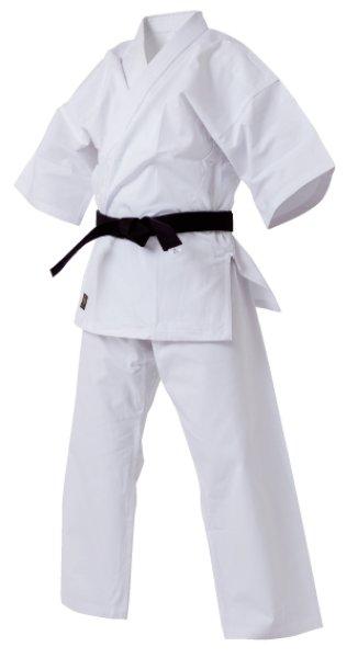 画像1: 高級純白フルコンタクト空手着 (白帯付) (1)